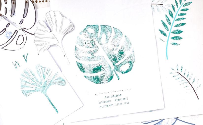 Blätter-Stempel aus Moosgummi