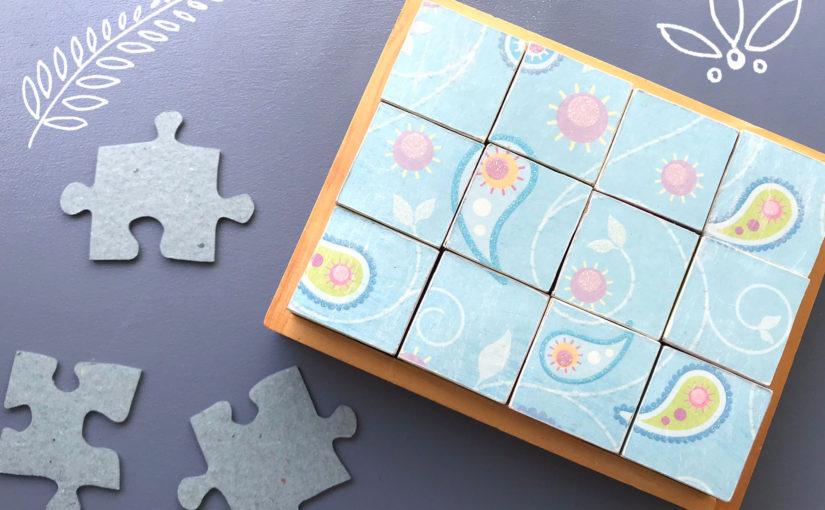 Würfelpuzzle – wie man aus etwas Altem etwas Neues zaubert