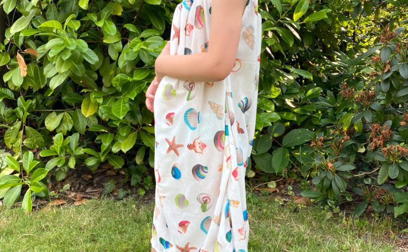 Sommerkleid für Kinder aus einem Rechteck genäht