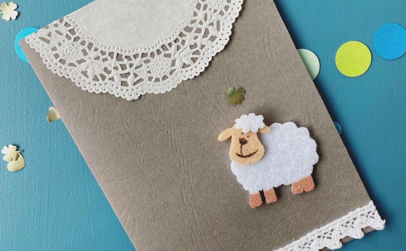 Glückwunschkarte Schaf