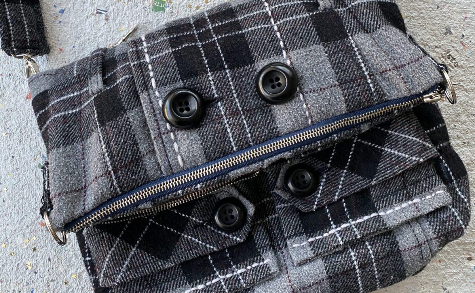 Tasche aus einem alten Mantel